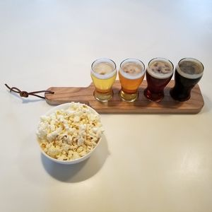 Handmade Beer Flight w/ Glasses